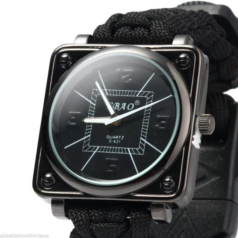 Часы-браслет выживания 6 в 1 Polar Star: огниво, паракорд, компас, свисток, нож 206232