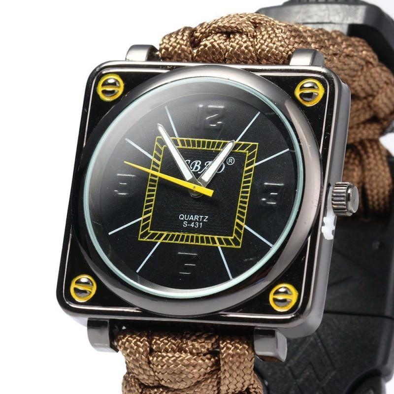 Часы-браслет выживания 6 в 1 Polar Star: огниво, паракорд, компас, свисток, нож 206234