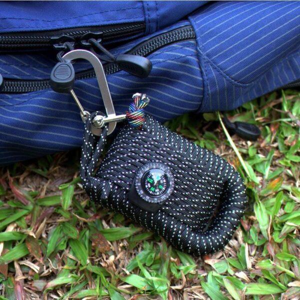 29450 - Портативный комплект выживания из 29 предметов: веревка 10,5 м, огниво, компас, рыболовные снасти, аптечка