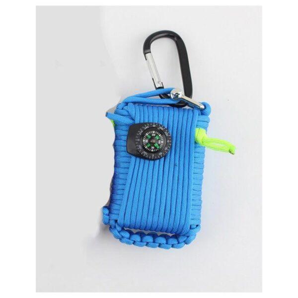 29451 - Портативный комплект выживания из 29 предметов: веревка 10,5 м, огниво, компас, рыболовные снасти, аптечка