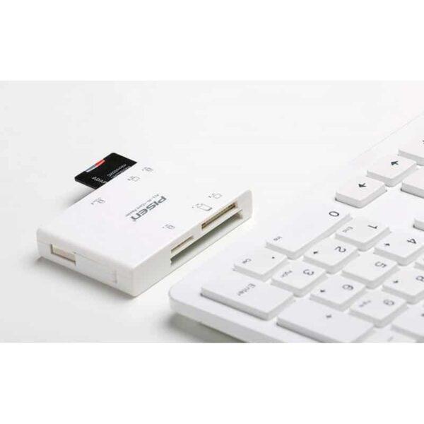 29538 - Мультифункциональный картридер Pisen Card Reader II - SD, MS, XD, CF, TF, M2, выдвижной интерфейс USB 2.0