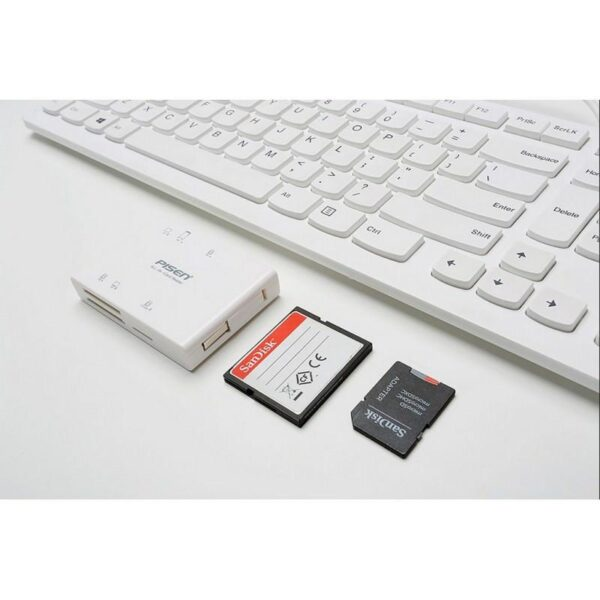 29540 - Мультифункциональный картридер Pisen Card Reader II - SD, MS, XD, CF, TF, M2, выдвижной интерфейс USB 2.0