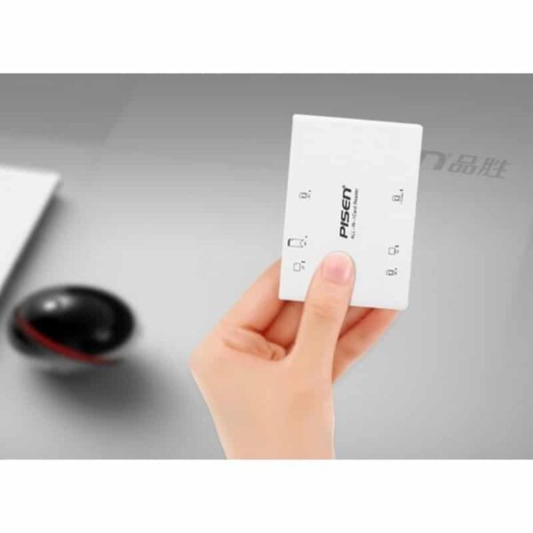29543 - Мультифункциональный картридер Pisen Card Reader II - SD, MS, XD, CF, TF, M2, выдвижной интерфейс USB 2.0
