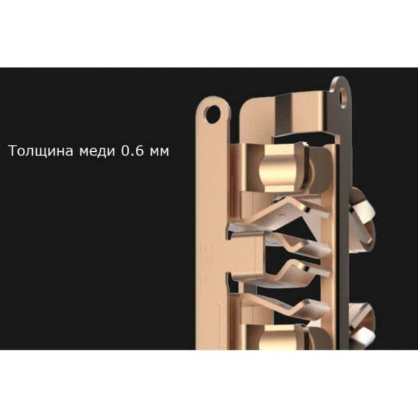 29585 - Круглая Smart розетка Pisen KY33 - 3 USB выхода, 3 розетки, ROHS UL94-V0, защита от детей