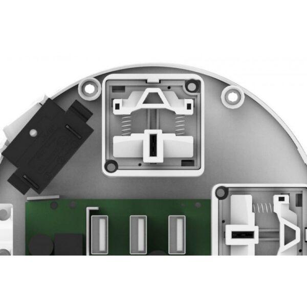29587 - Круглая Smart розетка Pisen KY33 - 3 USB выхода, 3 розетки, ROHS UL94-V0, защита от детей