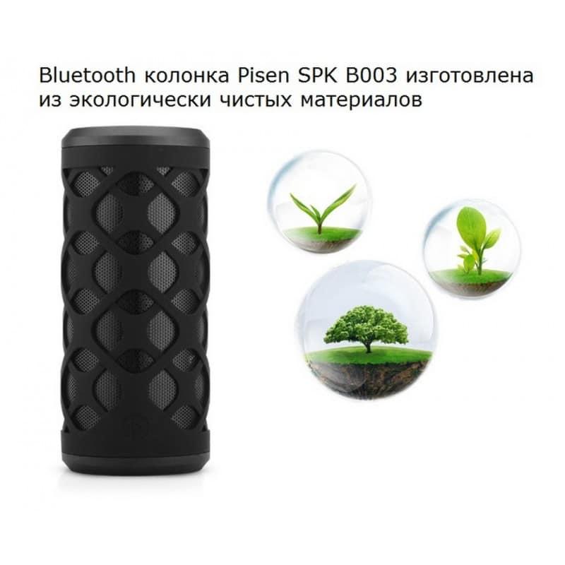 Портативная Bluetooth колонка Pisen SPK-B003 – IPx6, поддержка Micro SD 206407