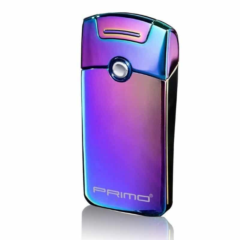 Плазменная электроимпульсная USB-зажигалка Futura Primo: цинковый сплав, ветрозащита - Северное сияние