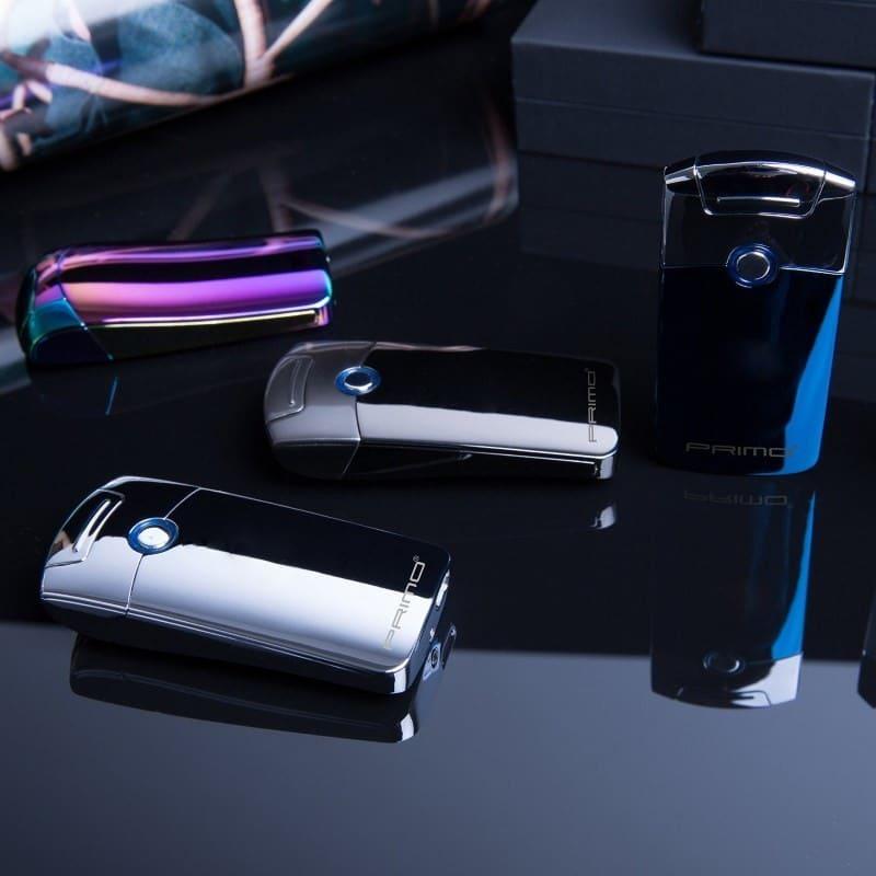 Плазменная электроимпульсная USB-зажигалка Futura Primo: цинковый сплав, ветрозащита 206420