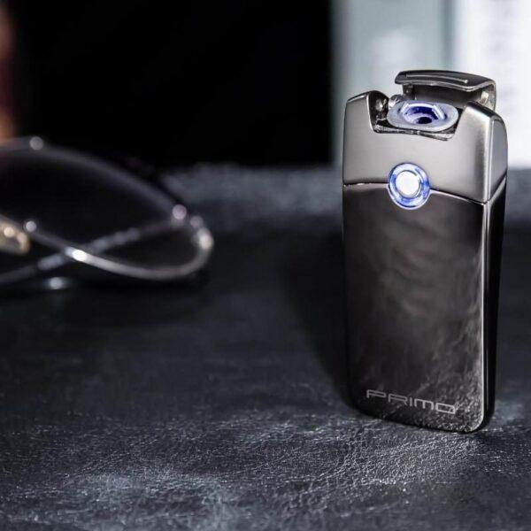 29664 - Плазменная электроимпульсная USB-зажигалка Futura Primo: цинковый сплав, ветрозащита