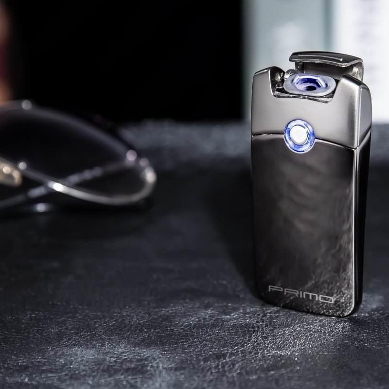 Плазменная электроимпульсная USB-зажигалка Futura Primo: цинковый сплав, ветрозащита 206421