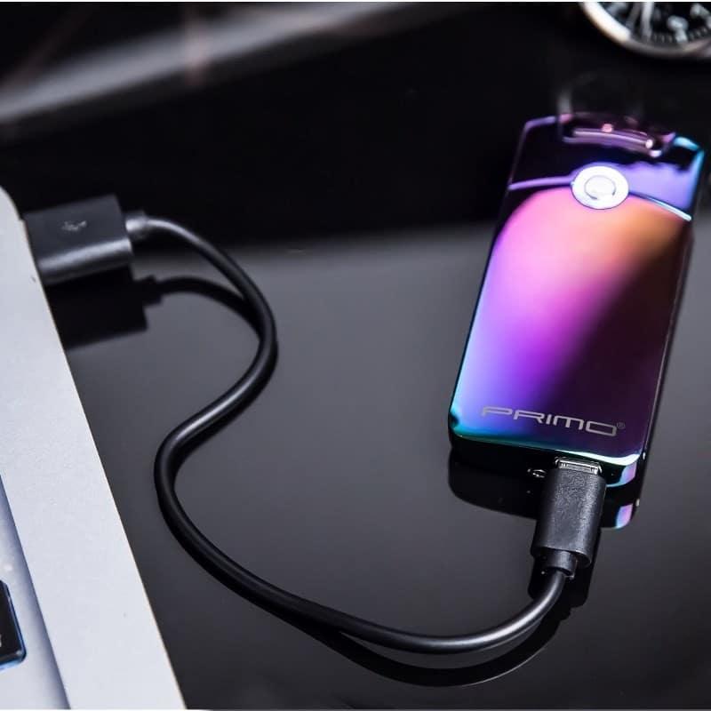 Плазменная электроимпульсная USB-зажигалка Futura Primo: цинковый сплав, ветрозащита 206424