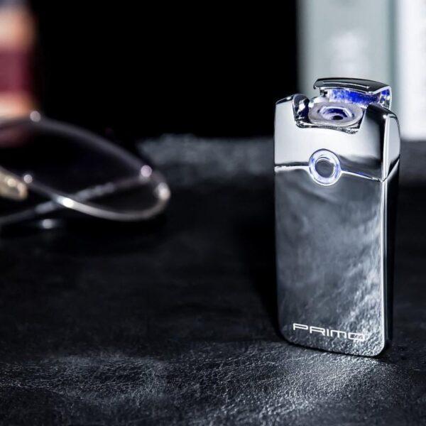 29668 - Плазменная электроимпульсная USB-зажигалка Futura Primo: цинковый сплав, ветрозащита