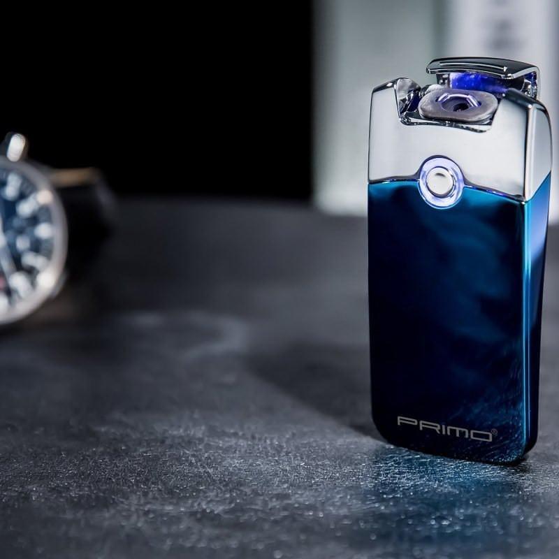 Плазменная электроимпульсная USB-зажигалка Futura Primo: цинковый сплав, ветрозащита 206426