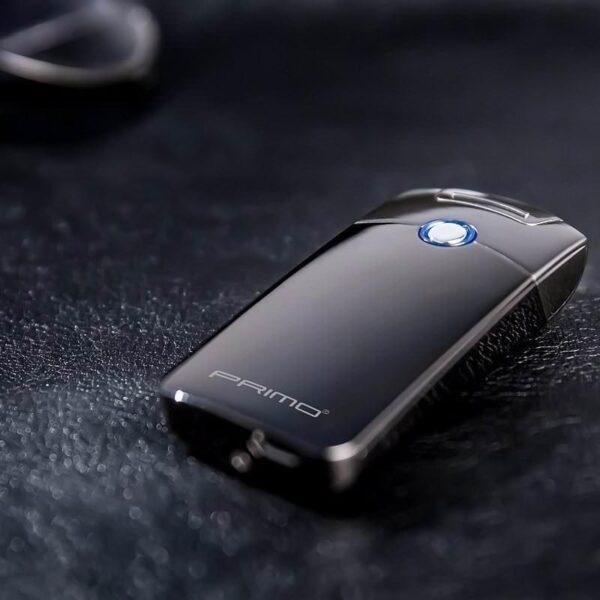29670 - Плазменная электроимпульсная USB-зажигалка Futura Primo: цинковый сплав, ветрозащита