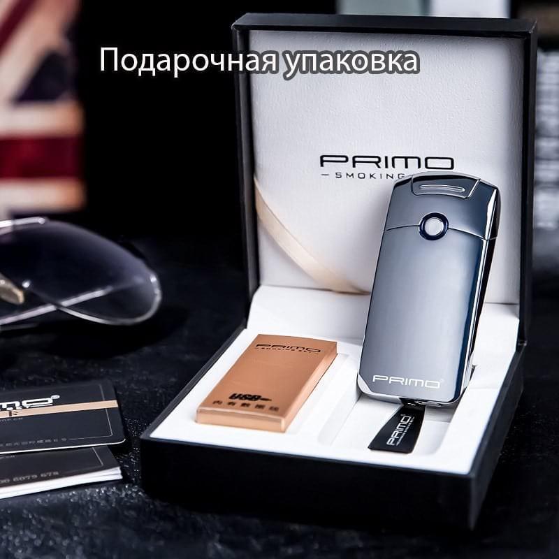 Плазменная электроимпульсная USB-зажигалка Futura Primo: цинковый сплав, ветрозащита 206429
