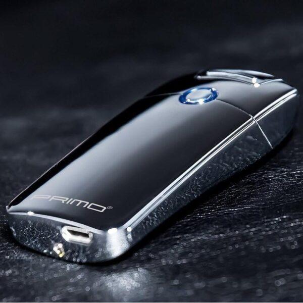 29673 - Плазменная электроимпульсная USB-зажигалка Futura Primo: цинковый сплав, ветрозащита