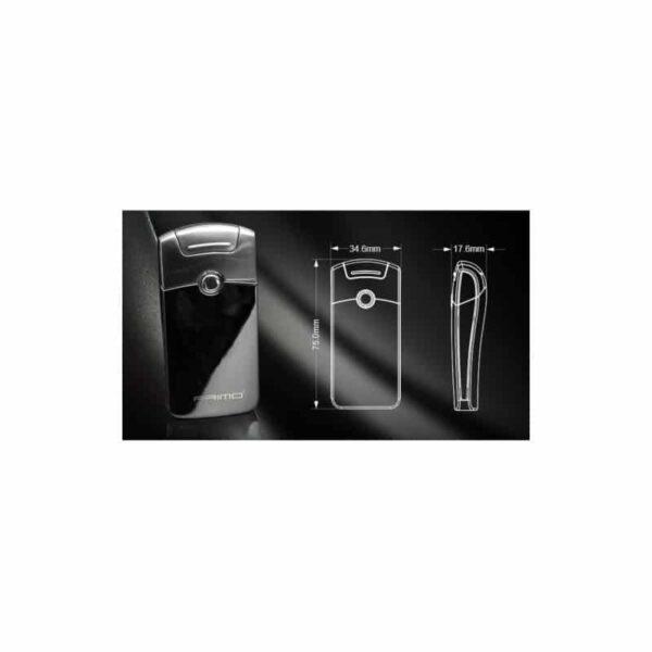 29674 - Плазменная электроимпульсная USB-зажигалка Futura Primo: цинковый сплав, ветрозащита
