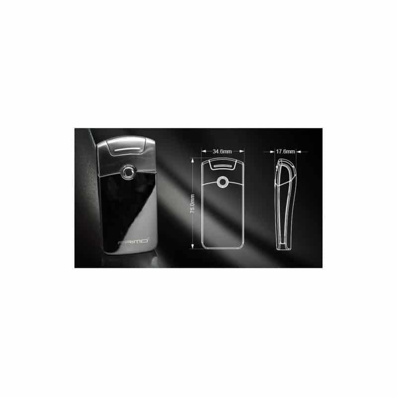 Плазменная электроимпульсная USB-зажигалка Futura Primo: цинковый сплав, ветрозащита 206431