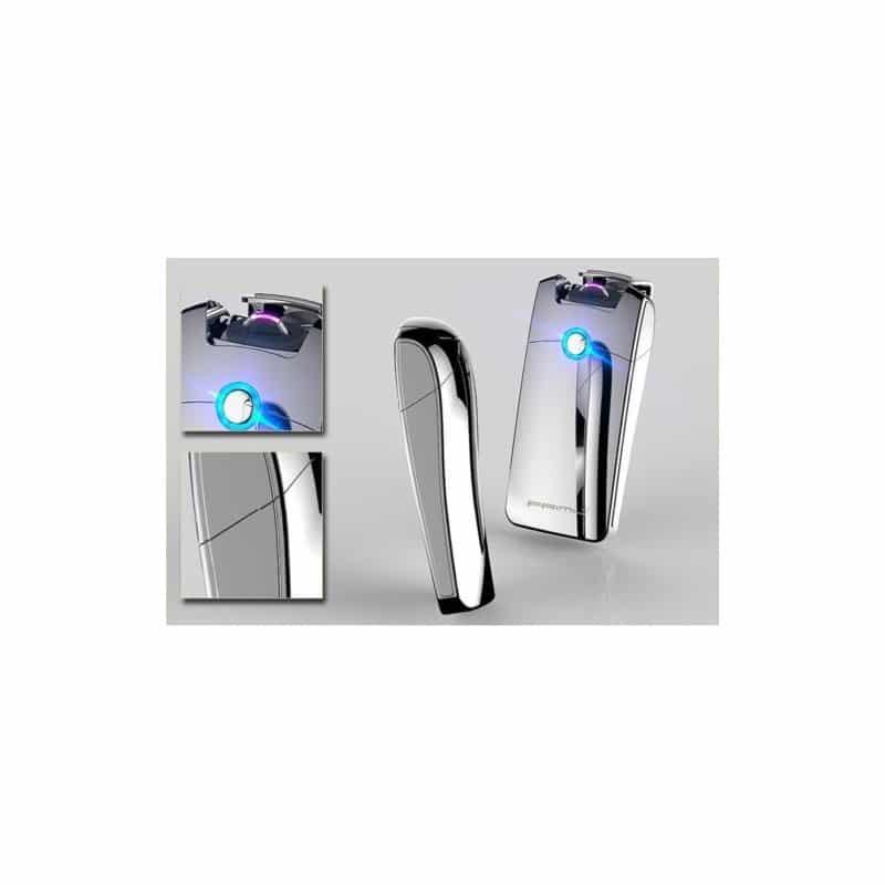 Плазменная электроимпульсная USB-зажигалка Futura Primo: цинковый сплав, ветрозащита 206432