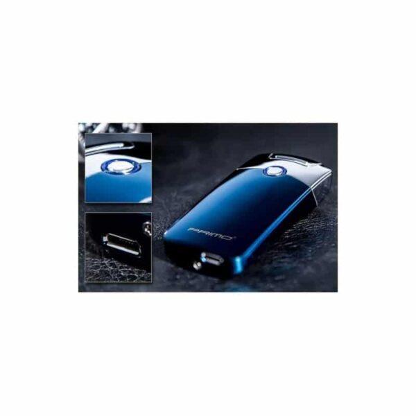 29678 - Плазменная электроимпульсная USB-зажигалка Futura Primo: цинковый сплав, ветрозащита