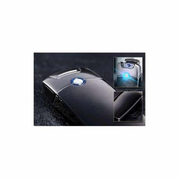 29679 - Плазменная электроимпульсная USB-зажигалка Futura Primo: цинковый сплав, ветрозащита
