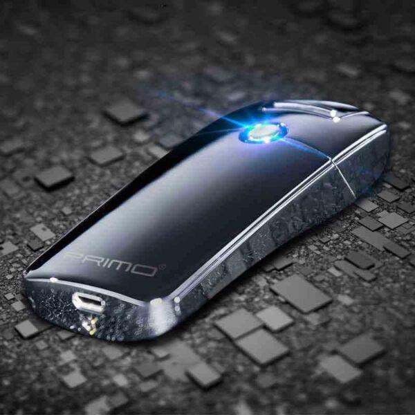 29680 - Плазменная электроимпульсная USB-зажигалка Futura Primo: цинковый сплав, ветрозащита