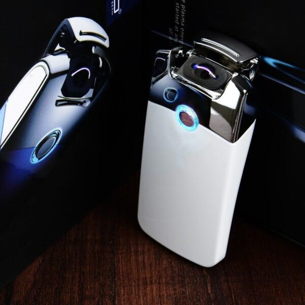 29686 - Плазменная электроимпульсная USB-зажигалка Futura Primo: цинковый сплав, ветрозащита