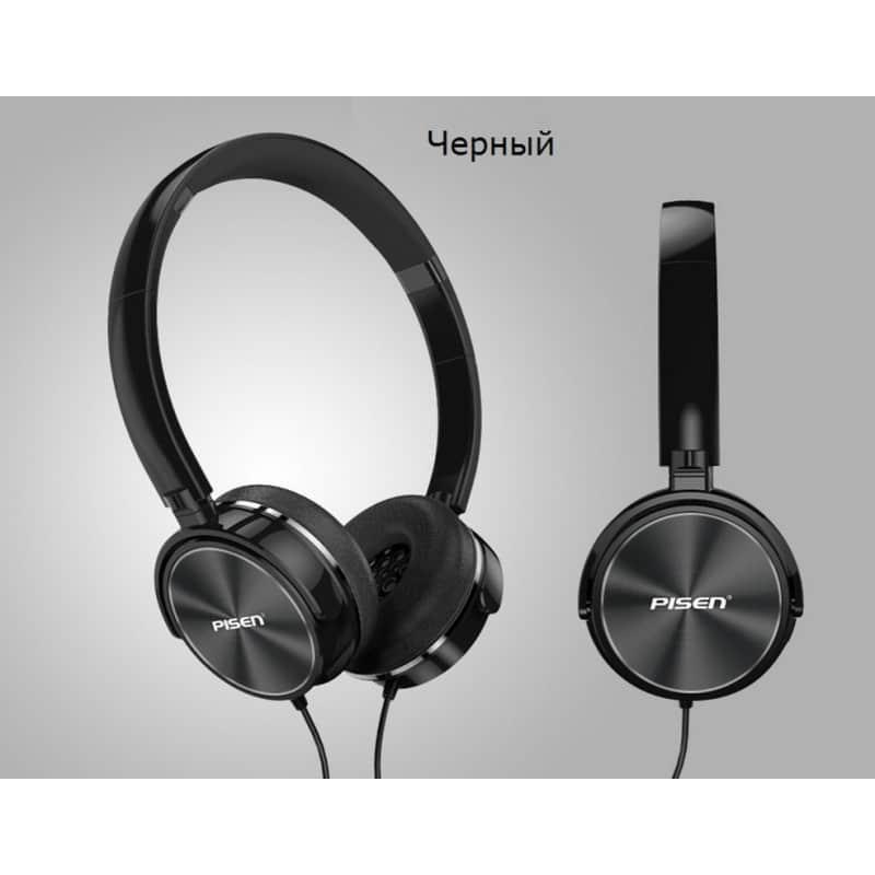 Hi-Fi наушники Pisen HD300 – позолоченный штекер, металлическая конструкция, кожаные амбушюры 206443