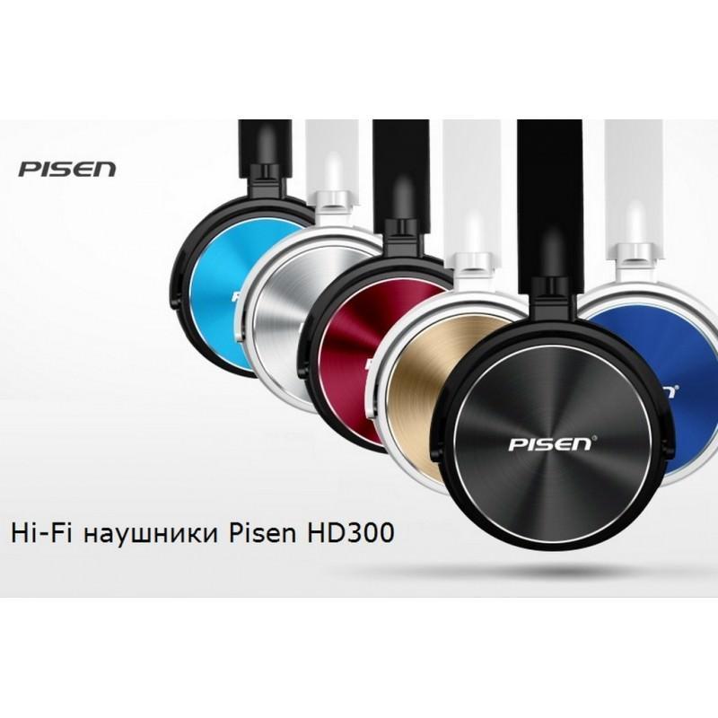 29692 - Hi-Fi наушники Pisen HD300 - позолоченный штекер, металлическая конструкция, кожаные амбушюры