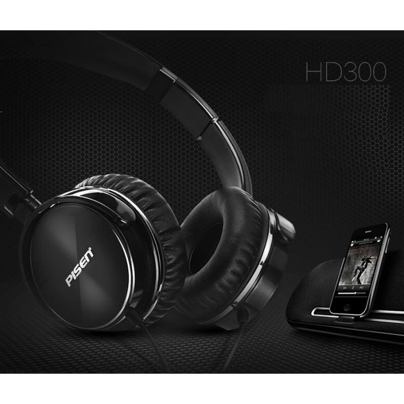 Hi-Fi наушники Pisen HD300 – позолоченный штекер, металлическая конструкция, кожаные амбушюры 206448