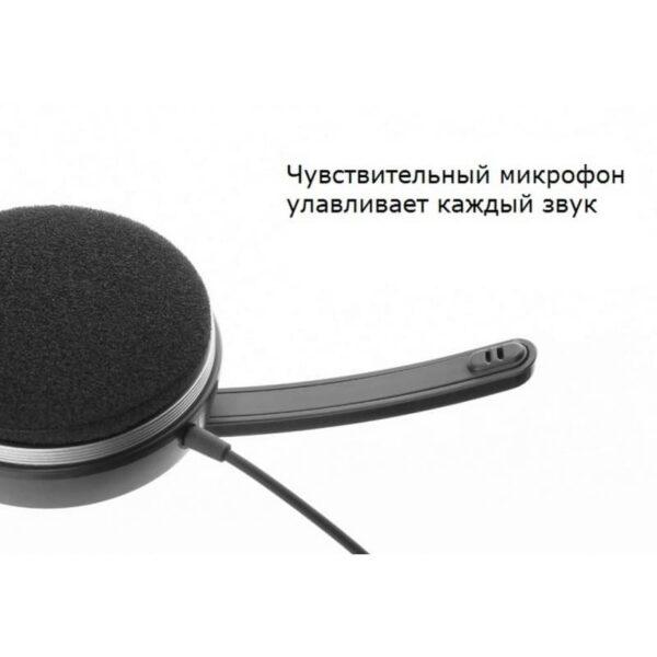29709 - Накладные проводные наушники Pisen HD109 - встроенный микрофон, телескопическая конструкция