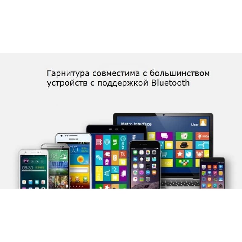 Bluetooth гарнитура Pisen LE105 – NFS, шумоподавление, до 8 часов 206467