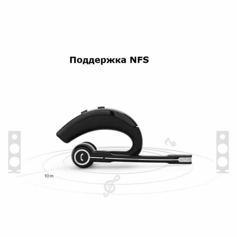 Bluetooth гарнитура Pisen LE105 – NFS, шумоподавление, до 8 часов 206468