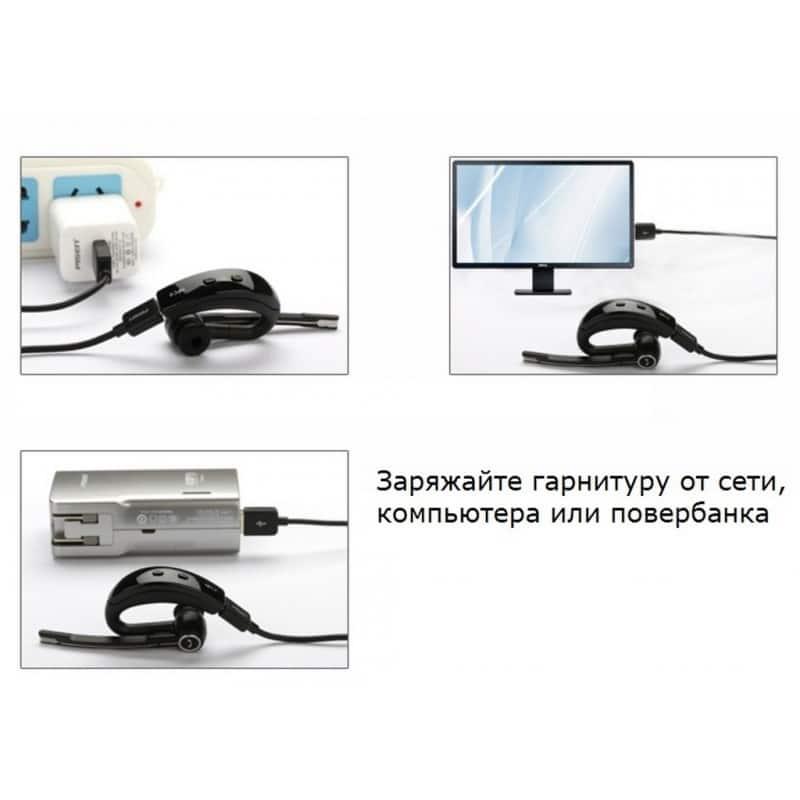Bluetooth гарнитура Pisen LE105 – NFS, шумоподавление, до 8 часов 206470