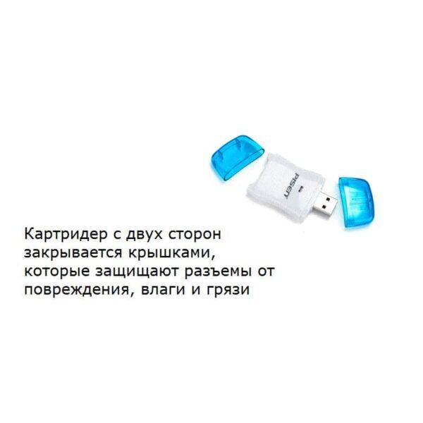 29724 - Картридер Pisen Color - USB2.0, SD / SDHC