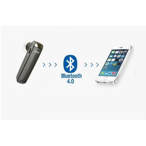 29754 - Стильная Bluetooth гарнитура Pisen LE005 - цифровая обработка звука, интеллектуальное шумоподавление, до 10 часов разговора