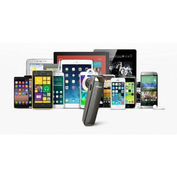 29755 - Стильная Bluetooth гарнитура Pisen LE005 - цифровая обработка звука, интеллектуальное шумоподавление, до 10 часов разговора