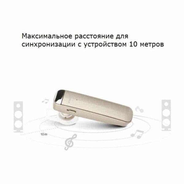 29756 - Стильная Bluetooth гарнитура Pisen LE005 - цифровая обработка звука, интеллектуальное шумоподавление, до 10 часов разговора