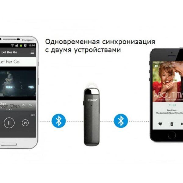 29757 - Стильная Bluetooth гарнитура Pisen LE005 - цифровая обработка звука, интеллектуальное шумоподавление, до 10 часов разговора