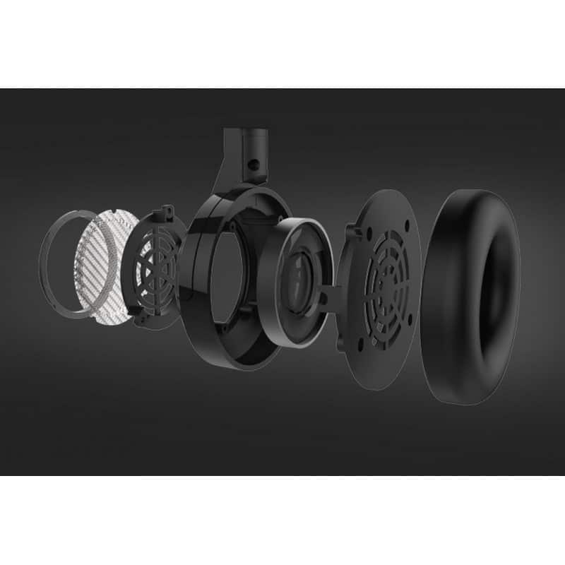 Открытые накладные наушники Pisen HD200 – позолоченный штекер, металлическая конструкция, кожаные амбушюры 206509