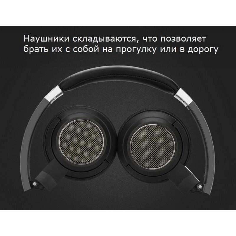 Открытые накладные наушники Pisen HD200 – позолоченный штекер, металлическая конструкция, кожаные амбушюры 206512