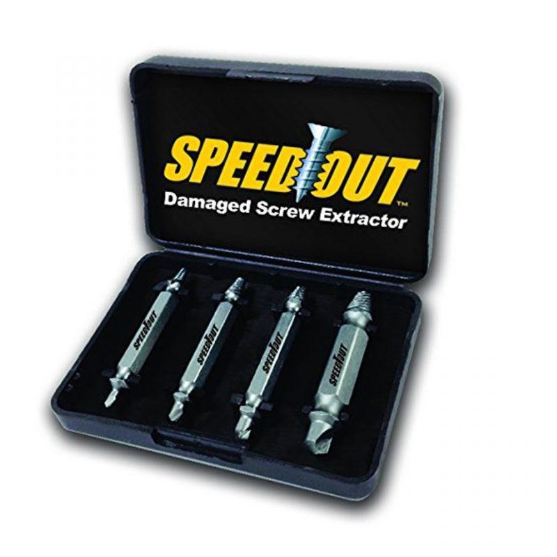 29800 - Набор насадок для выкручивания поврежденных саморезов, шурупов SpeedOut ОРИГИНАЛ: 5 бит, сталь Р6М5