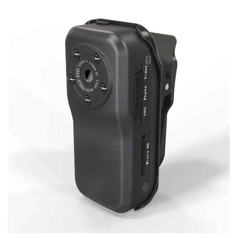 Мини камера MD38 – 1920 х 1080, водонепроницаемый бокс, 72 градуса, ночная подсветка, активация звуком