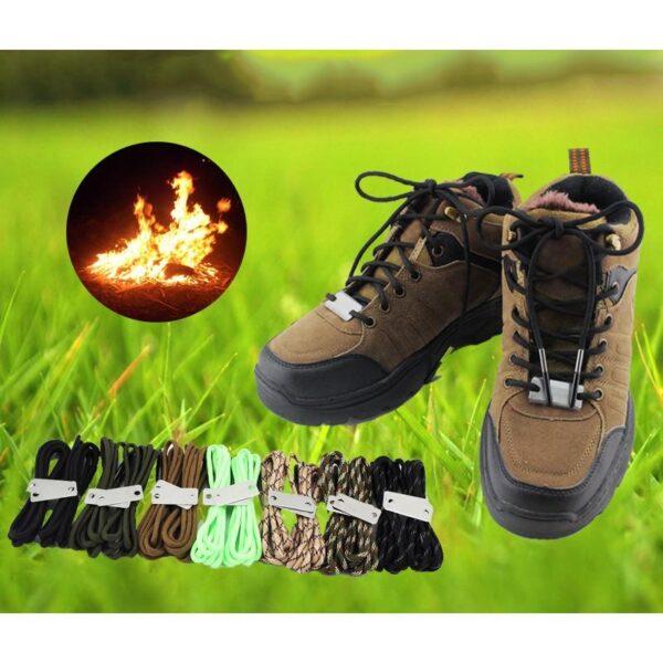 29816 - Шнурки выживания из паракорда с огнивом Highlander + светоотражающая нить