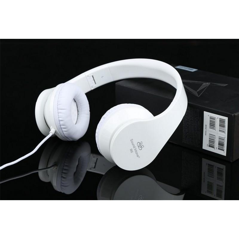 29840 - Складные наушники Sound Intone I60 - встроенный микрофон, трехполосный эквалайзер, басы
