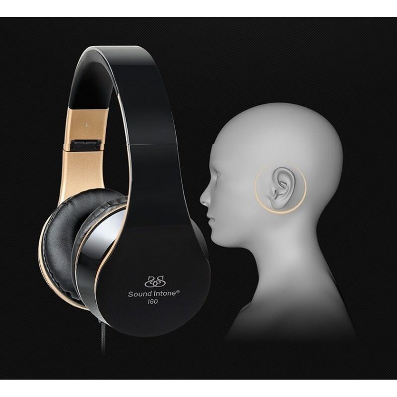 Складные наушники Sound Intone I60 – встроенный микрофон, трехполосный эквалайзер, басы 206578
