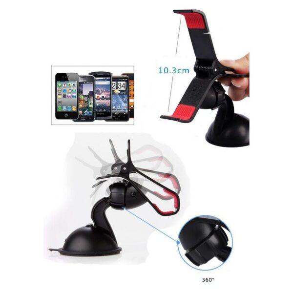 30003 - Компактный клип-держатель смартфона для автомобиля (А-855)