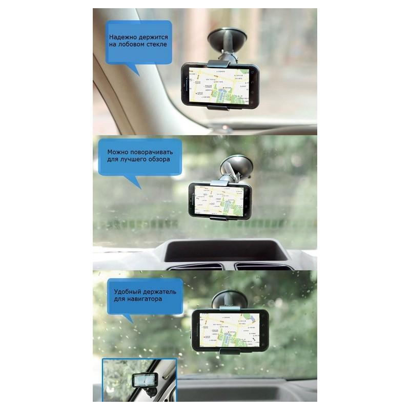 Компактный клип-держатель смартфона для автомобиля (А-855) 206723