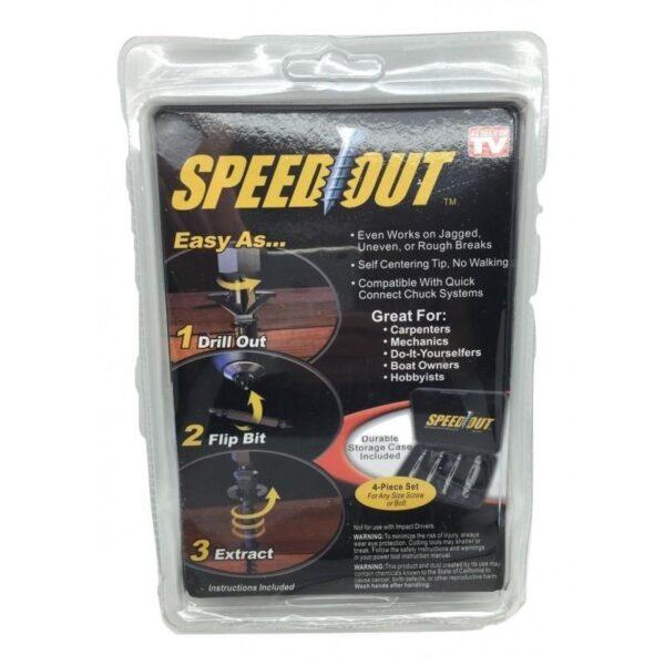 30018 - Комплект из набора насадок для выкручивания поврежденных саморезов SpeedOut и насадки для суперключа Distordo 7-19 мм