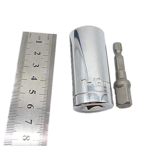 30028 - Комплект из набора насадок для выкручивания поврежденных саморезов SpeedOut и насадки для суперключа Distordo 7-19 мм
